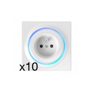 FIBARO Walli Outlet type E FGWOE-011 10PACK