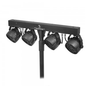 FLASH LED PAR Set - 4x PAR 36 12x3W + Statyw + Kontroler Nożny